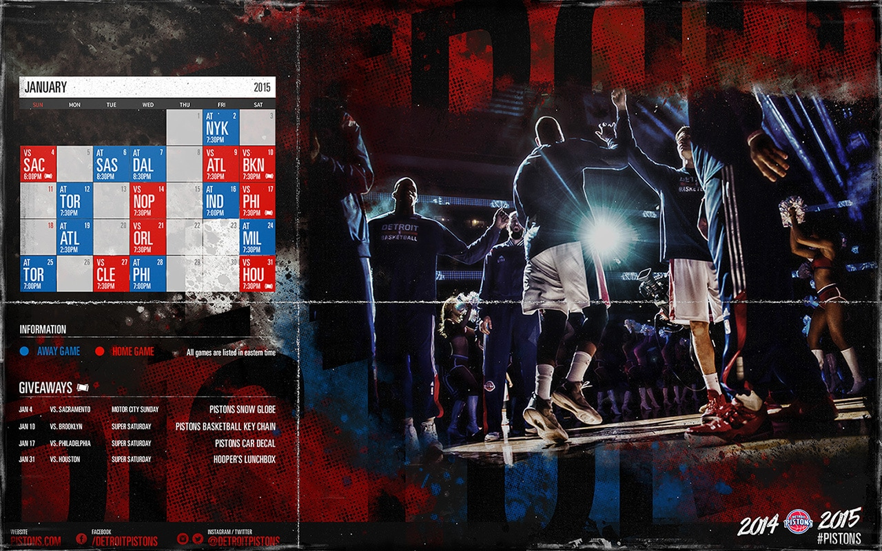 Pistons January Wallpaper