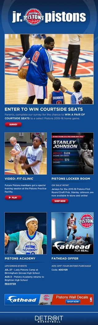 Junior Pistons Newsletter