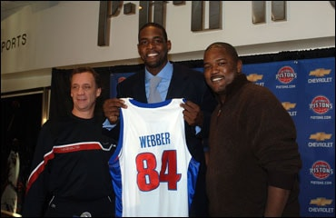 official photos 1594d b0c7a Pistons Sign Free-Agent Forward/Center Chris Webber ...