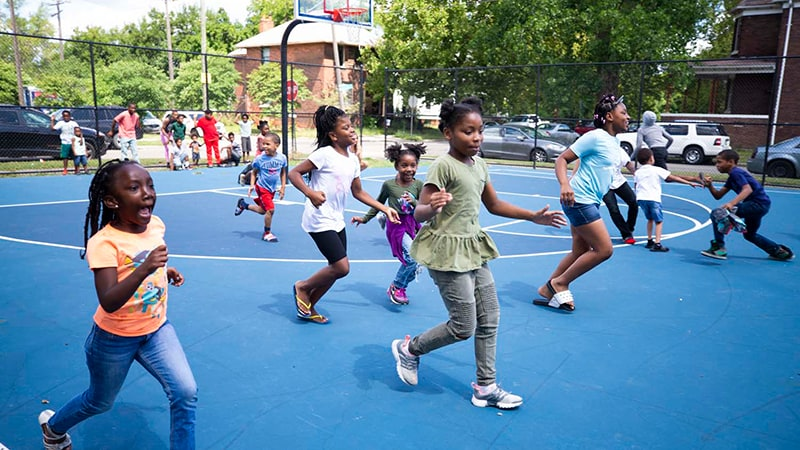 A Pistons Neighborhood event from 2019
