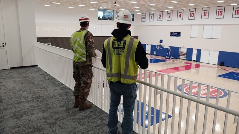 The Army Corps of Engineers Surveys the Detroit Pistons Performance Center