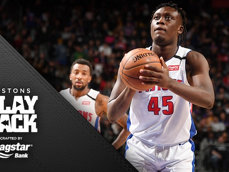 Pistons come back once, twice but Utah – their nemesis – hangs on to overcome another big night for Wood