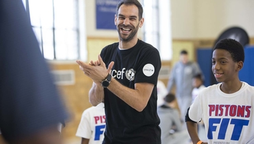 Photos: Pistons Fit Clinic - UPSM Elementary
