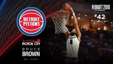 Pistons Select Bruce Brown, #42 Overall