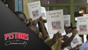 Pistons in the Community: Reggie Jackson's Literacy Lounge
