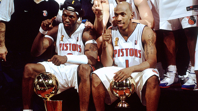 4f3ae3688 Detroit Pistons To Honor and Retire Jerseys For Ben Wallace And Chauncey  Billups