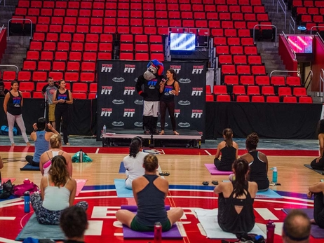 Photos: Pistons Fit Summer Yoga