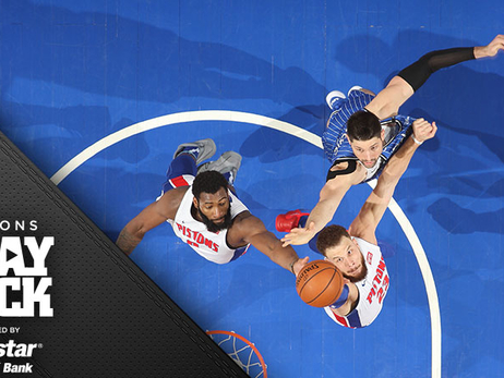Ellington's golden arm, Drummond's menacing blocks power Pistons past Magic