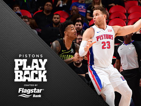 Pistons build 30-point lead, hang on to beat Hawks and go into break with a win