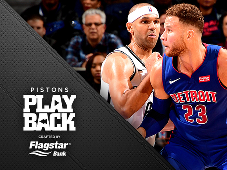 Pistons survive a dogfight to win the opener; big nights for Griffin, Drummond