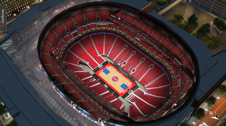 Little Caesars Arena Virtual Venue