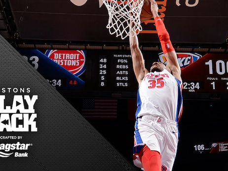 Wood's big night rallies Pistons from 16 down, but OKC's guard play prevails in a thriller