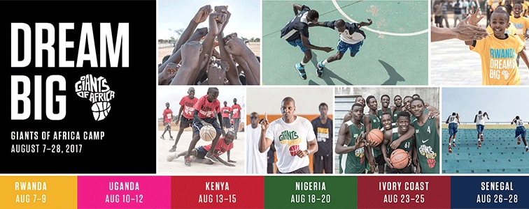 Masai Ujiri and Giants of Africa To Run Camps in Six African Countries This Summer