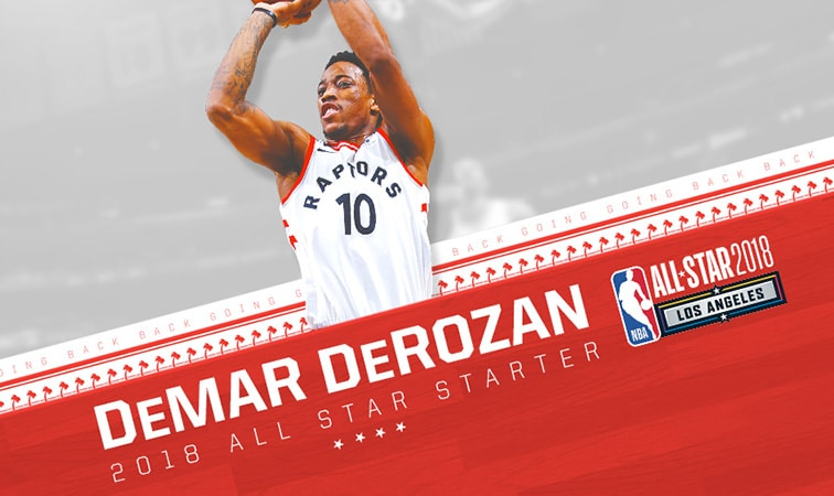 DeMar DeRozan Voted As Starter For 2018 NBA All-Star Game