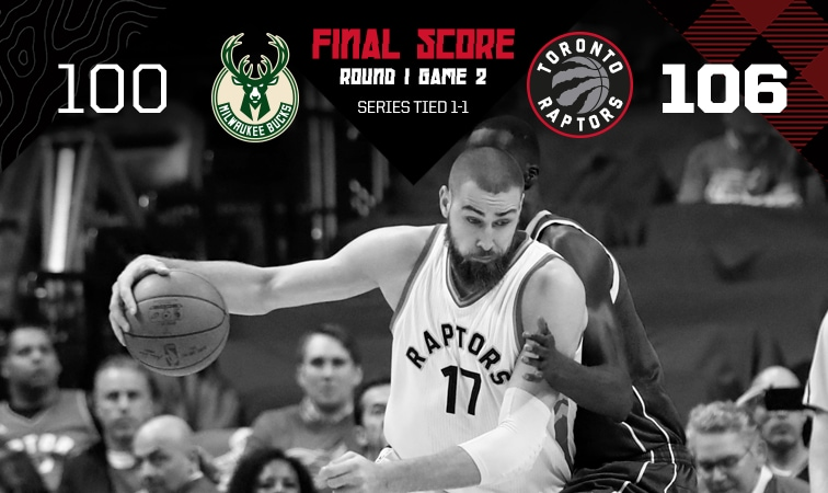 2017 Playoffs: Game 2 Recap - Raptors 106, Bucks 100 | Toronto Raptors