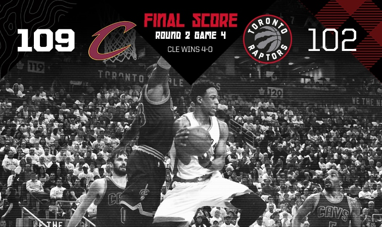 2017 Playoffs: Round 2 Game 4 - Raptors 102 Cavs 109
