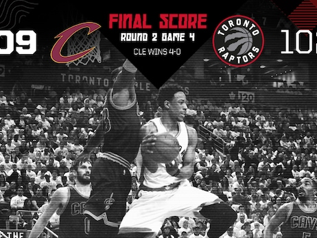 2017 Playoffs: Round 2, Game 4 - Raptors 102, Cavs 109