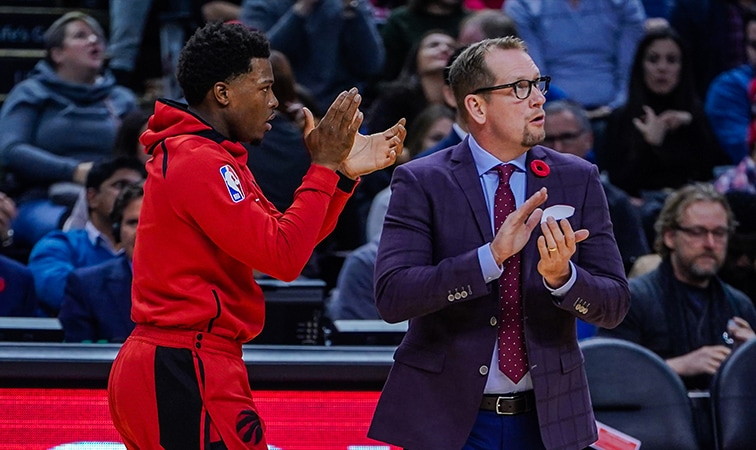 Nick Nurse Named Eastern Conference Coach of the Month