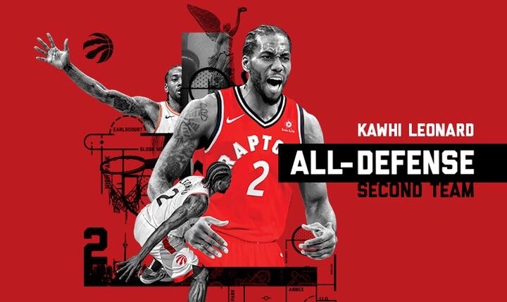 Kawhi Leonard Named to NBA All-Defensive Second Team