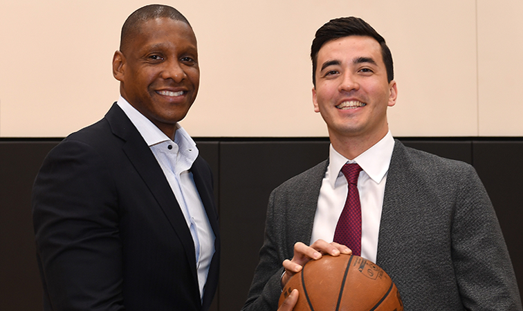 Masai Ujiri and Bobby Webster