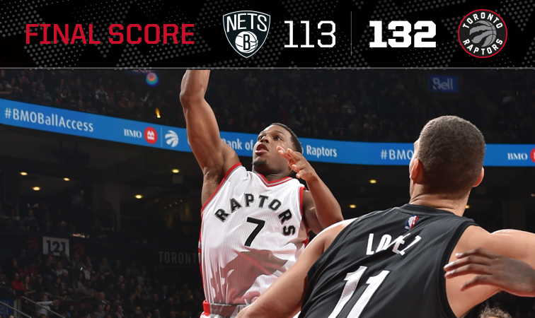 Raptors offence goes into high gear to pull away from Nets