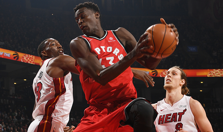 DeMar DeRozan scores 27 points in Toronto's win over Miami on Tuesday