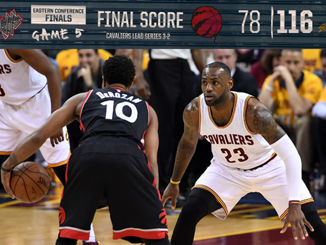 ECF Game 5: Raptors 78, Cavs 116