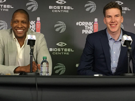 Jakob Poeltl Introduced To Media In Toronto