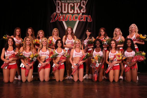 Milwaukee Bucks Dancers Team Photo