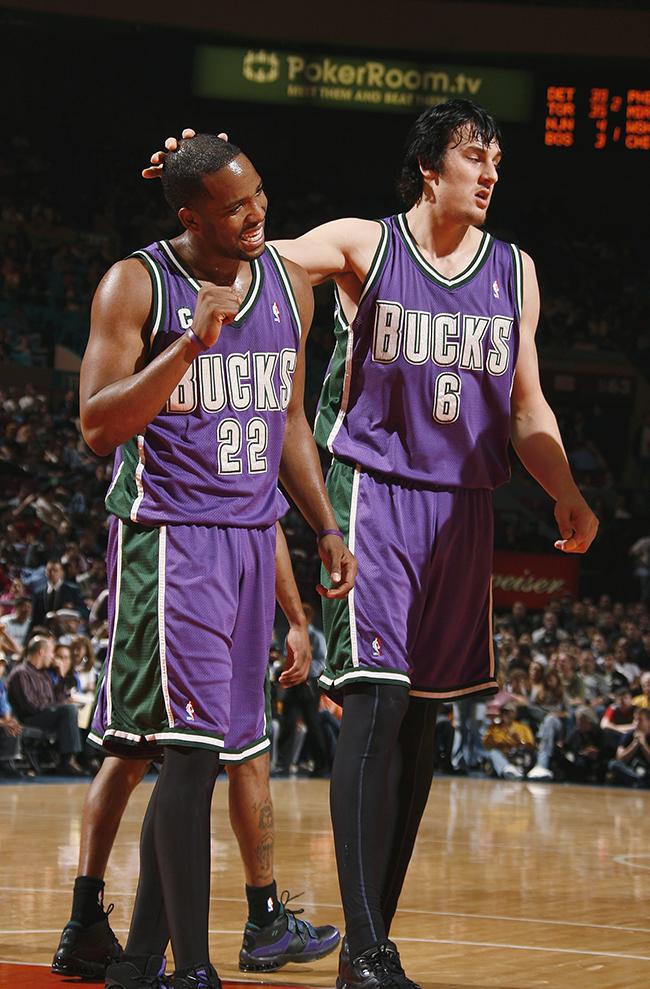 Michael Redd Celebrating 16 Milwaukee Bucks