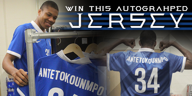 Win Giannis's Autographed Soccer Jersey