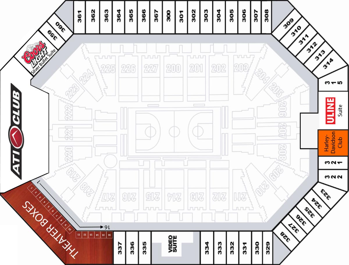 Club Level Seating Map