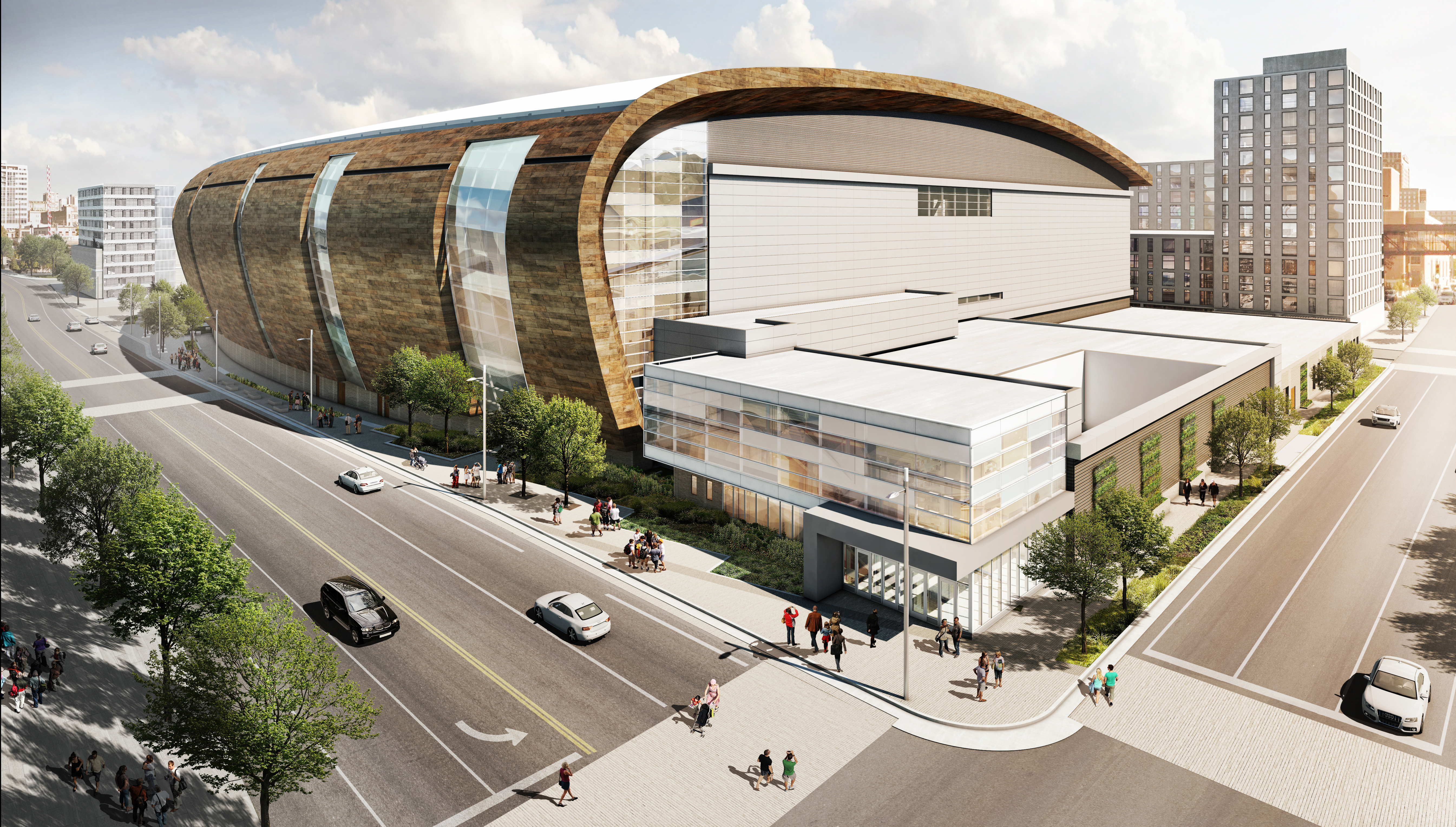 Milwaukee bucks reveal more renderings of new downtown for New construction design