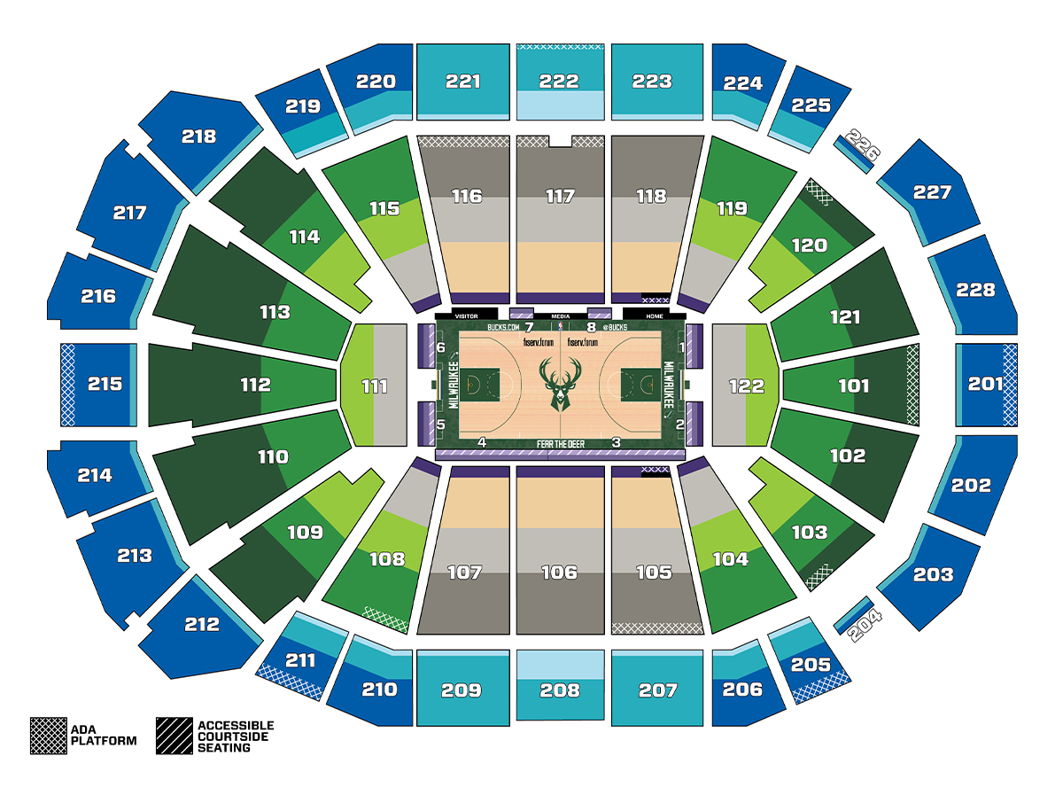 Image result for fiserv forum seating chart