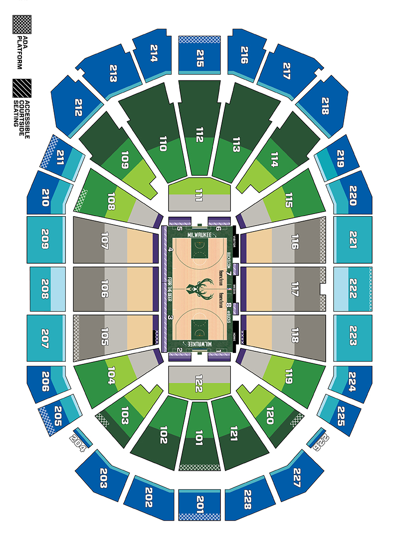 Seating Maps | Milwaukee Bucks