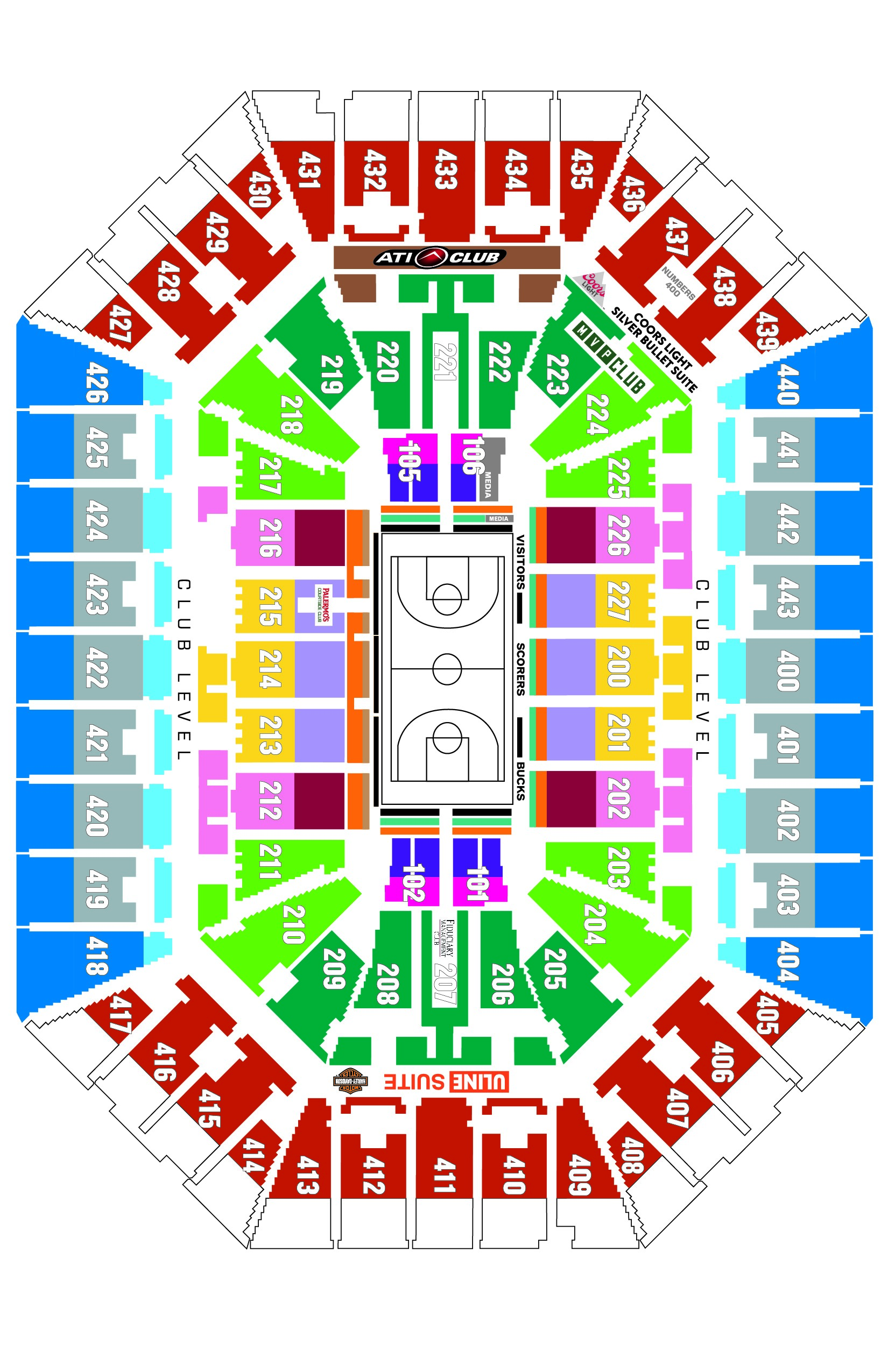 Full Sized Seating Map