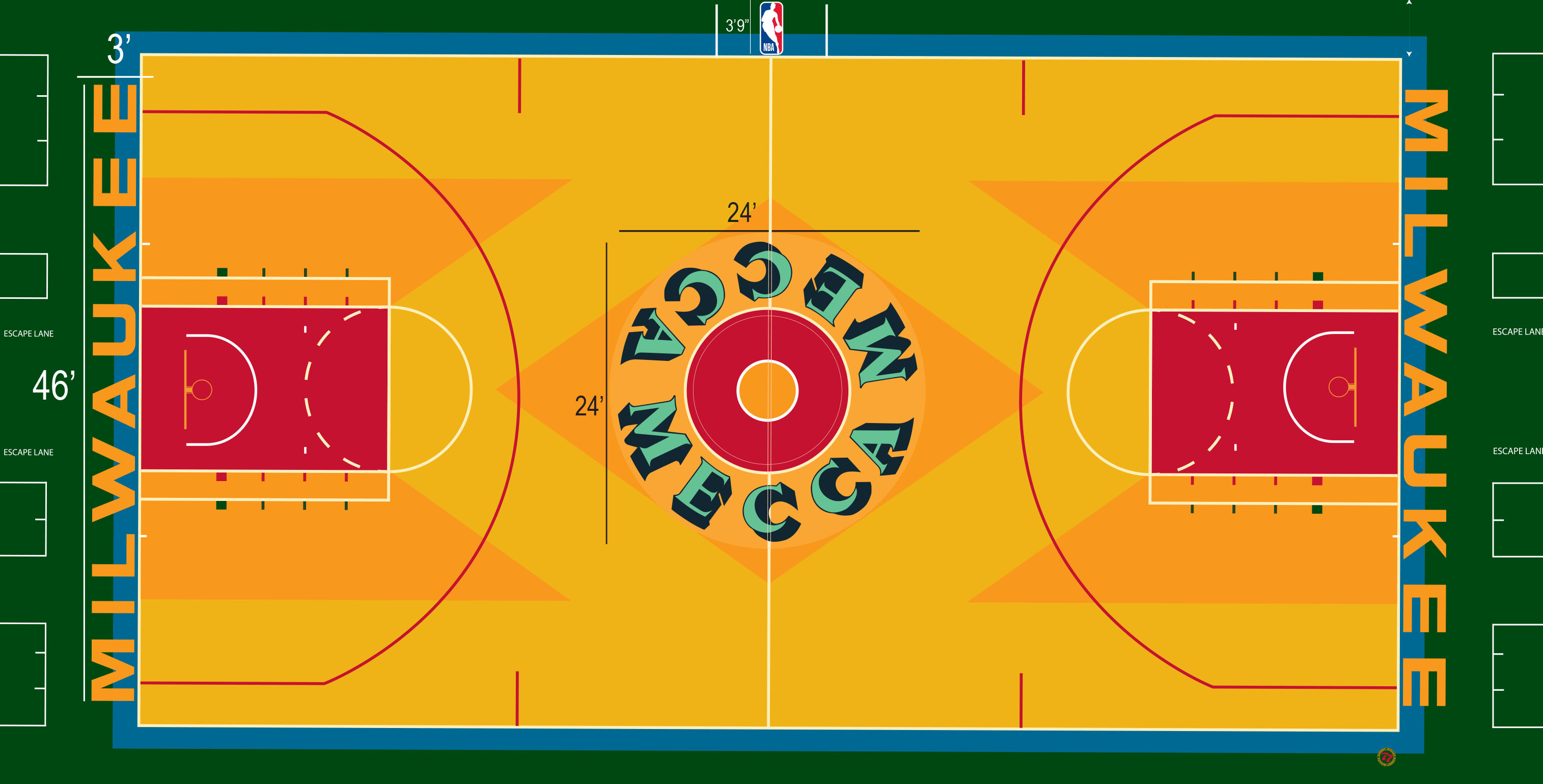 Image result for milwaukee bucks court