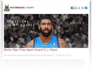 Fastbreak Newsletter Sample