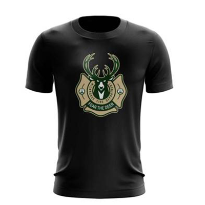 Miwlaukee Bucks and Milwaukee Fire Department Co-Branded T-shirt