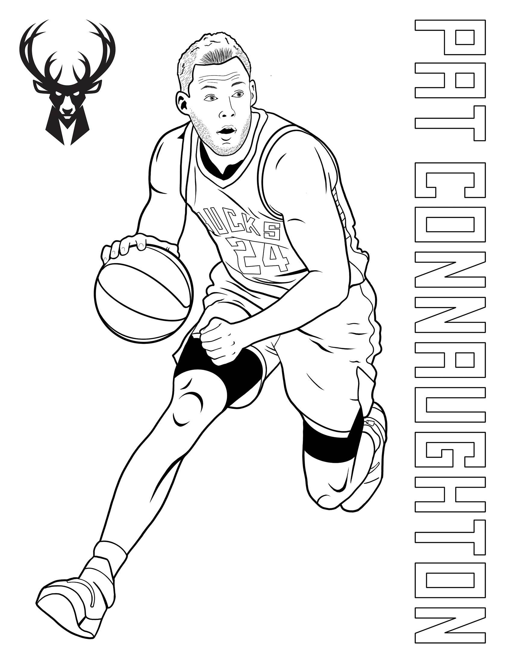 Bucks Kids Pages Color Pat Connaughton
