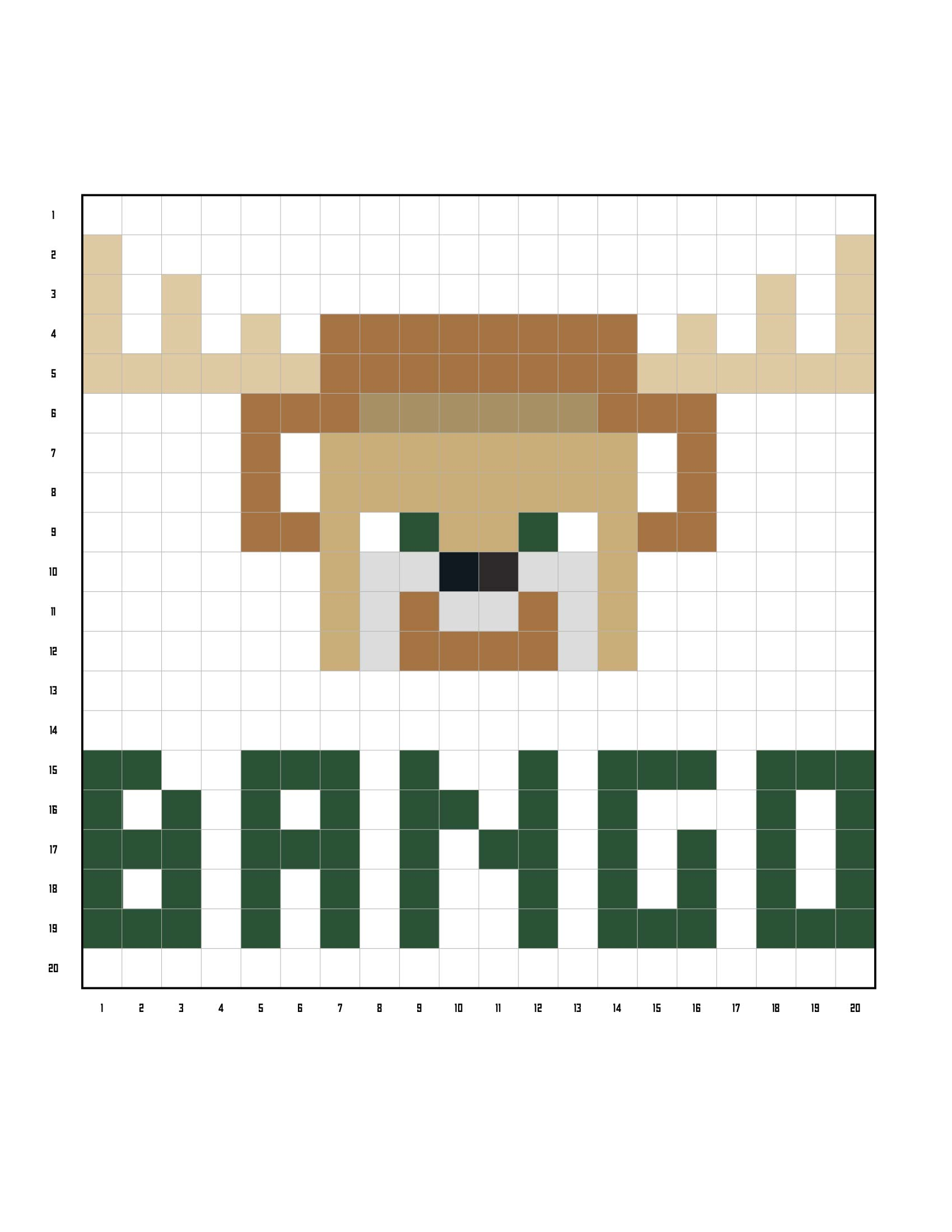 Bucks Kids Pages Bango Coloring Grid