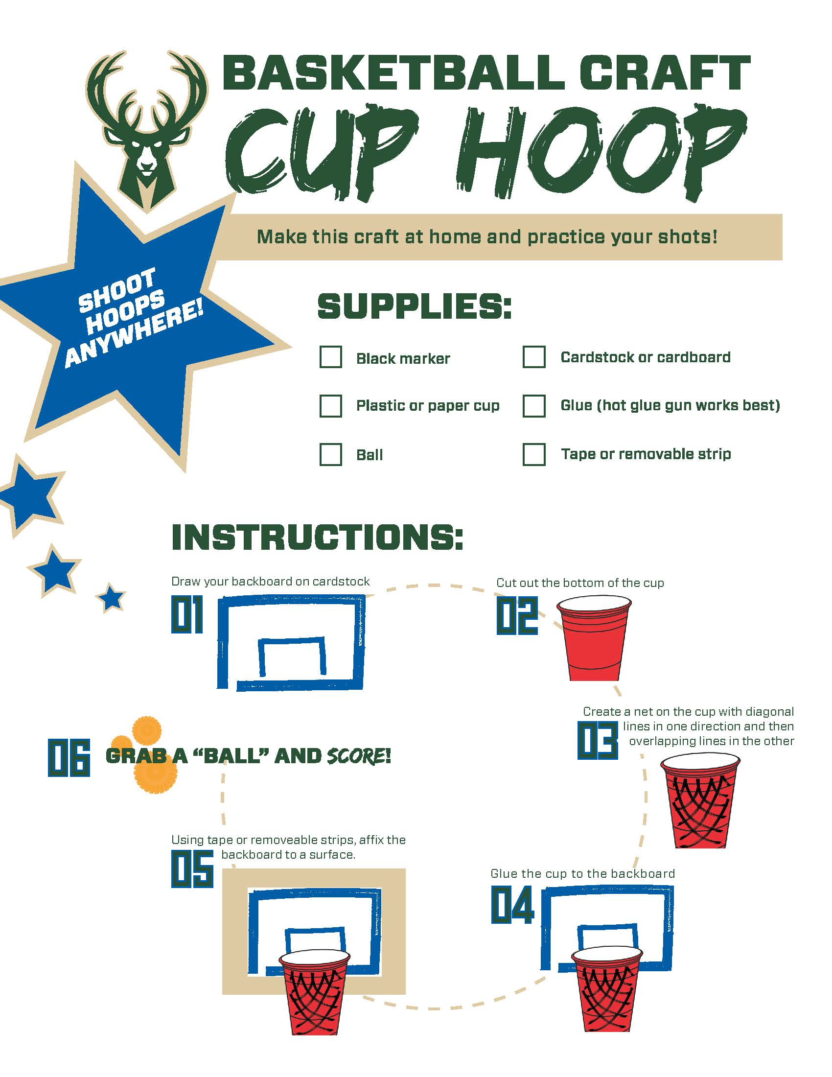 Bucks Kids Pages Cup Hoop