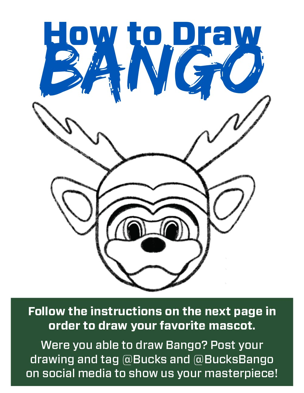 Bucks Kids Pages How to Draw Bango