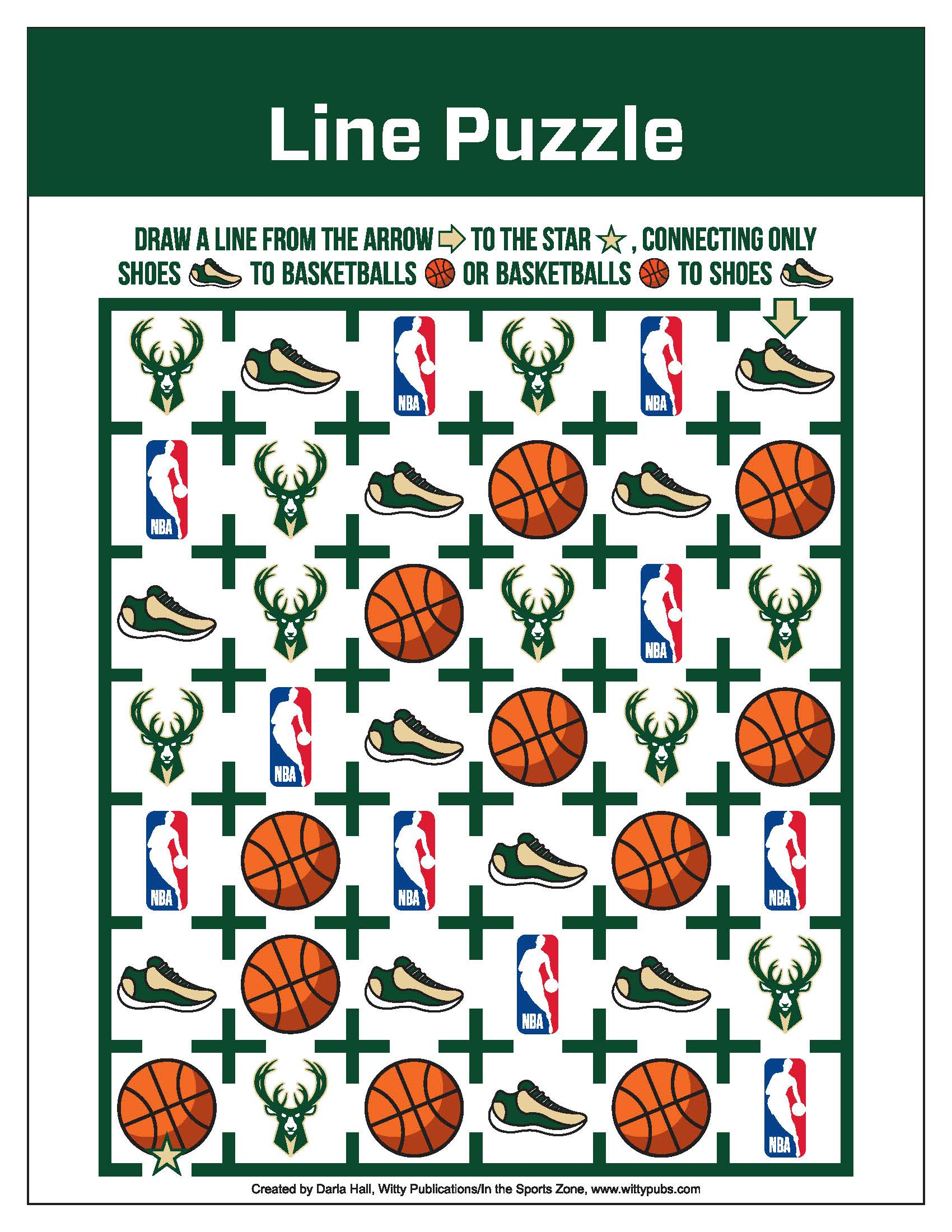 Bucks Kids Pages Line Puzzle