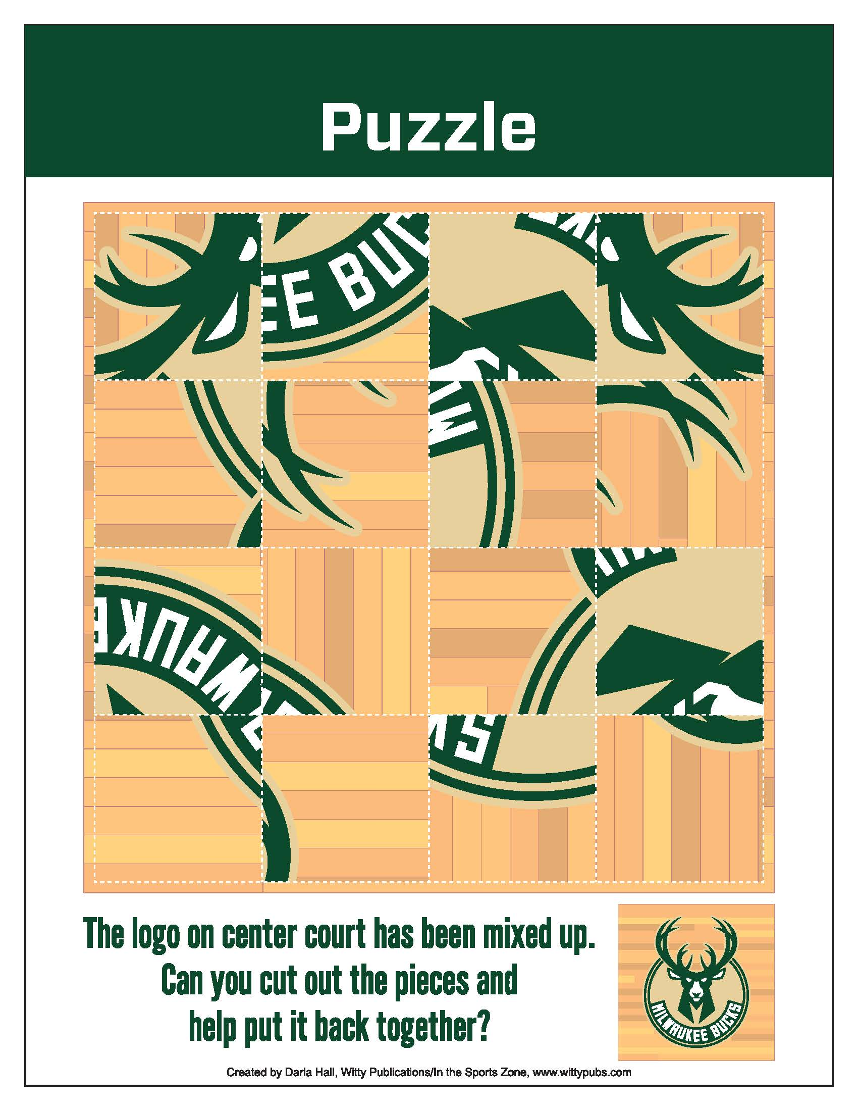 Bucks Kids Pages Logo Puzzle