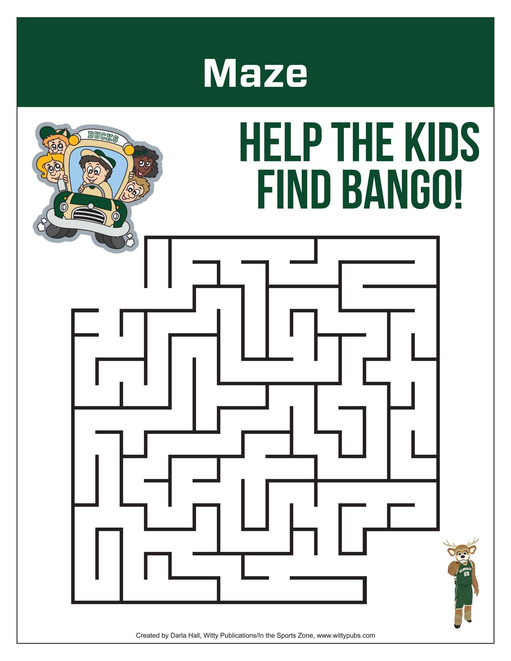 Bucks Kids Pages Maze