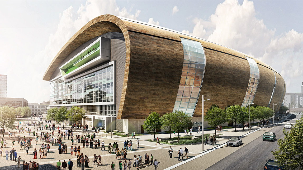 Bucks Release New Arena Renderings Ahead of Design Submission to City | Milwaukee Bucks