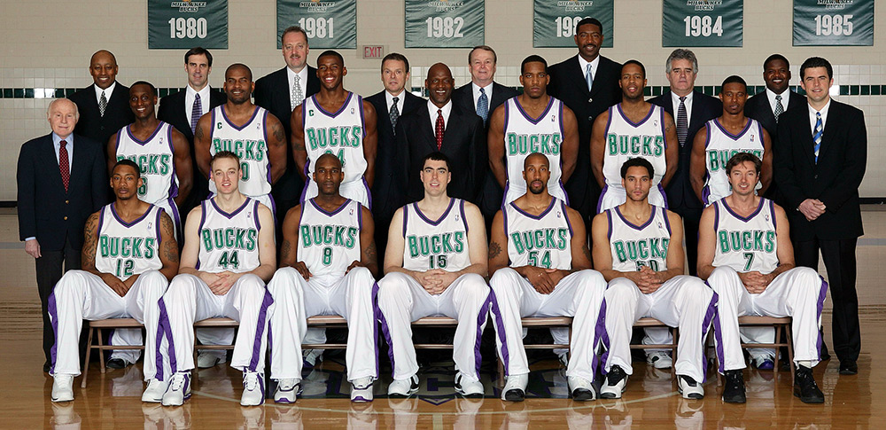 Milwaukee Bucks 2003-04 Team Photo