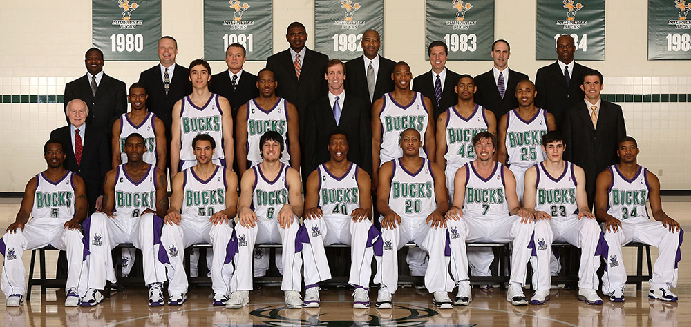 Milwaukee Bucks 2005-06 Team Photo