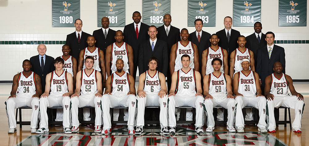 Milwaukee Bucks 2006-07 Team Photo
